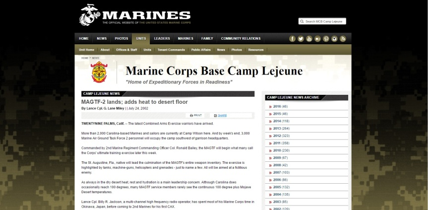 2002 Marine Corps article I'm in