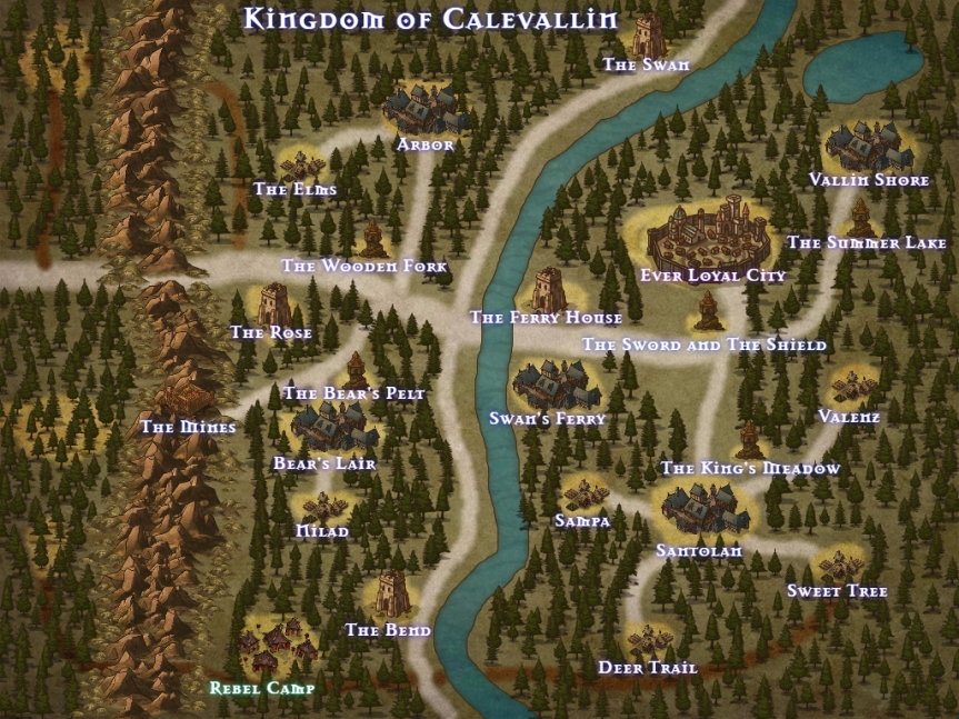 Map of the Kingdom of Calevallin
