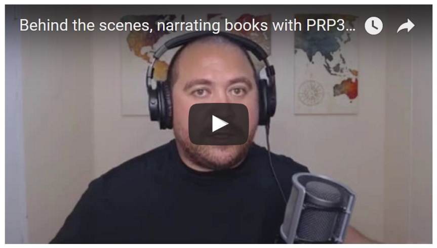 Behind the scenes, narrating books with PRP3 The Author