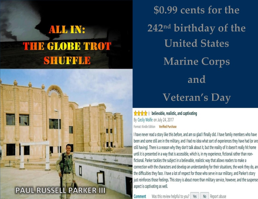 United States Marine Corps birthday and Veteran's Day price drop promo