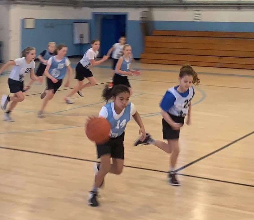 Drei's 10U rec basketball game on February 8,2020