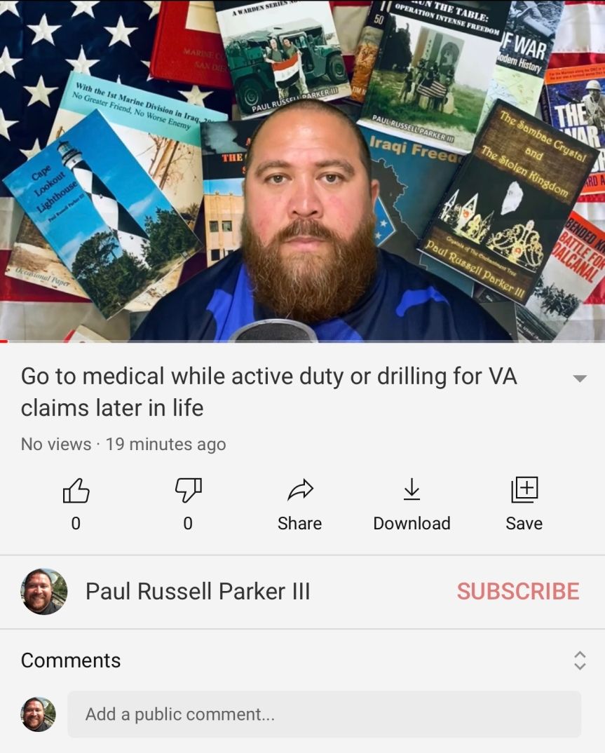 Go to medical if you're active duty or drilling for VA claims later in life