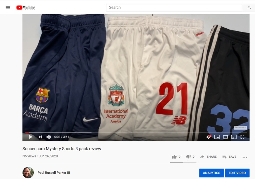 Soccer.com Mystery Shorts 3 pack review